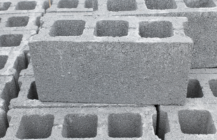 Block clipart hollow block. Concrete blocks dimensional long