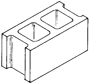 Blocks clipart hollow block.  collection of cinder