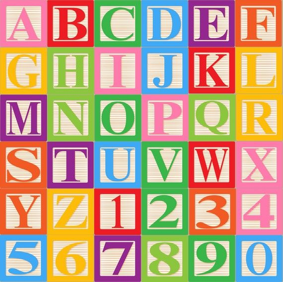 Block clipart alphabet. Baby blocks font clip
