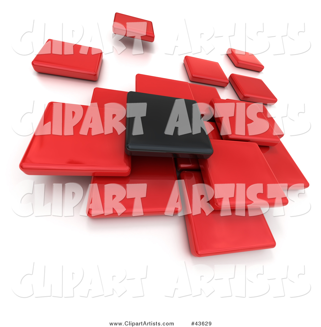 Black and a group. Blocks clipart one