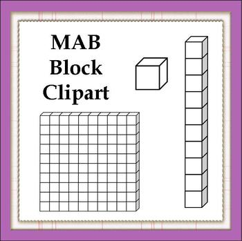 Blocks clipart one. Free mab by imaginative