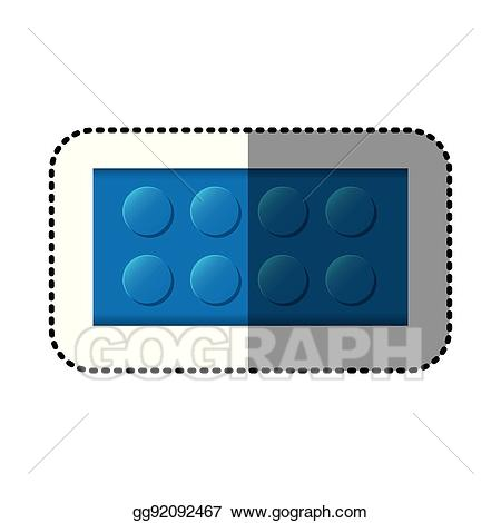 Vector stock sticker colorful. Blocks clipart rectangle