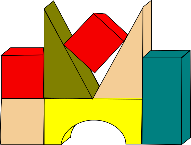 Building blocks medium image. Legos clipart blok