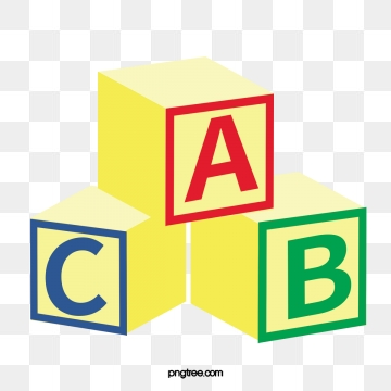 Blocks clipart vector. Alphabet png psd and