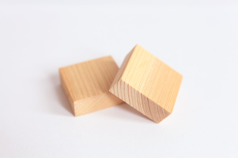 Wood rubber stamp . Blocks clipart wooden block