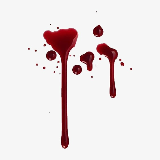 Splash watercolor ink marks. Blood clipart