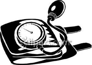 A pressure cuff royalty. Blood clipart black and white