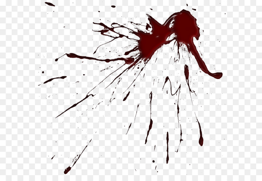 Blood clipart black and white. Brush drawing paint splatter