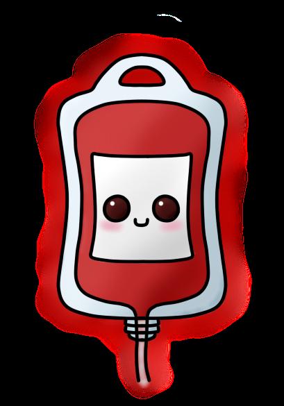 Blood clipart blood bag. Dd kawaii by amis