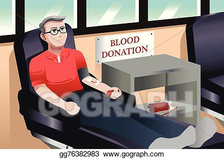 Vector art donation drawing. Blood clipart blood bank