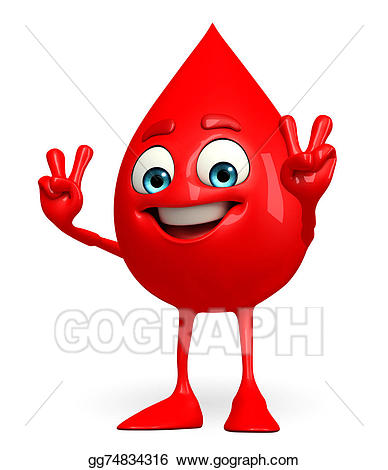 Stock illustration drop character. Blood clipart blood droplet