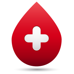 Blood clipart blood droplet. Medical icon set by