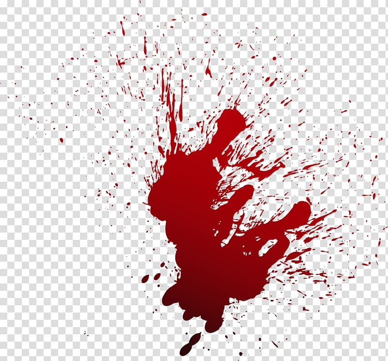 Blood clipart blood spill. Illustration red spray transparent