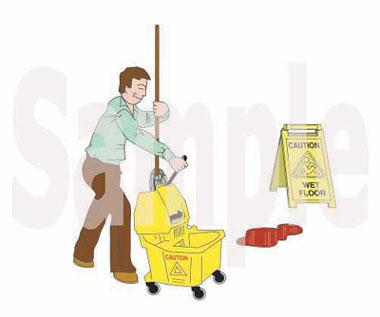 Mopping a clip art. Blood clipart blood spill