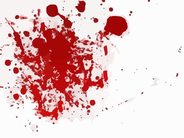 Scarlet red splash clip. Blood clipart blood splat