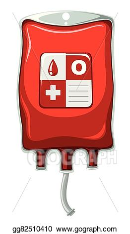 Vector art type o. Blood clipart blood typing