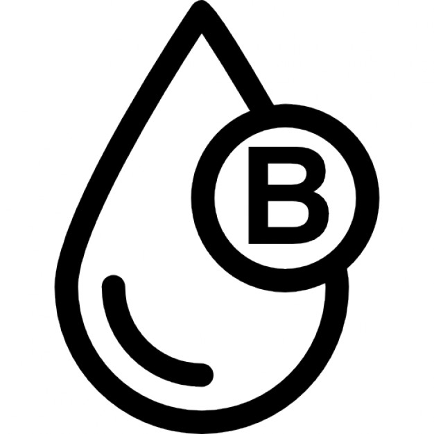 Type b icons free. Blood clipart blood typing