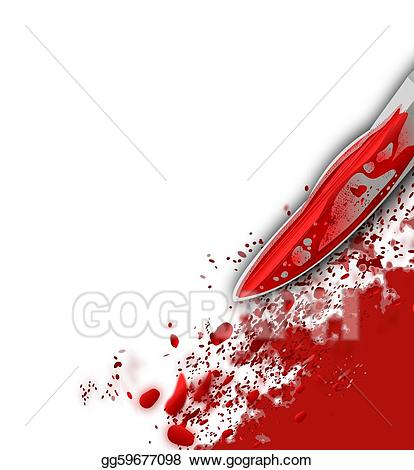 Stock illustration knife and. Blood clipart bloody