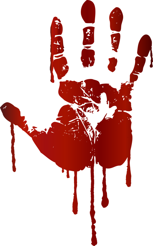 . Handprint clipart bloody