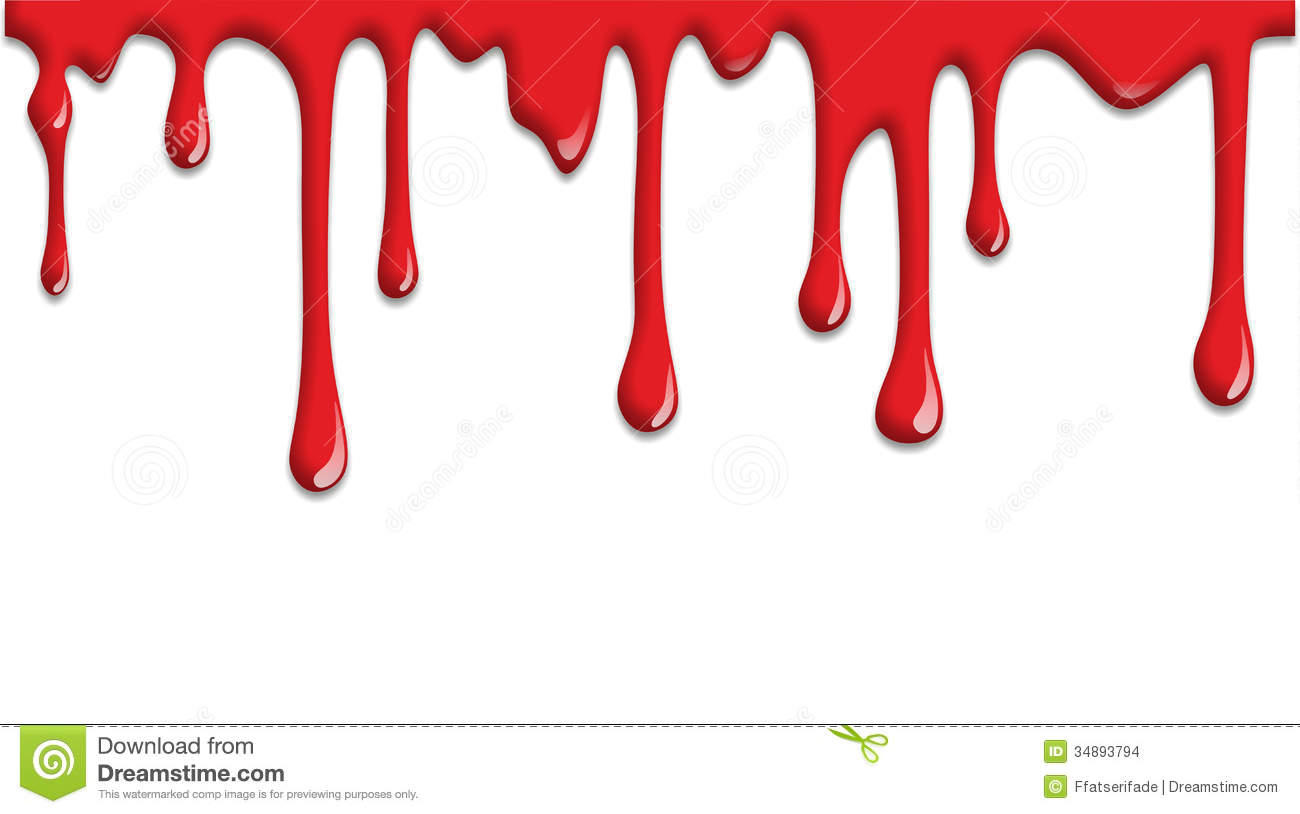 collection of dripping. Blood clipart border
