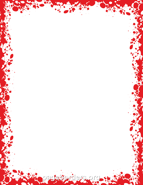 Printable use the in. Blood clipart border