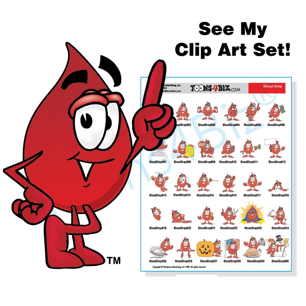 Blood clipart cartoon. Drop mascot clip art
