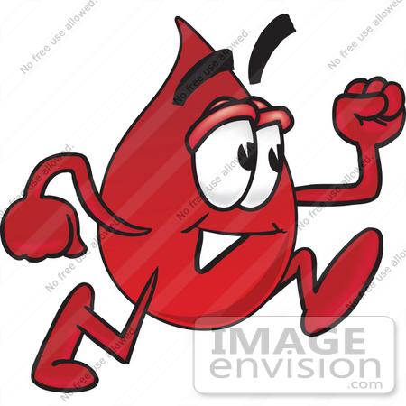 Drop running . Blood clipart cartoon