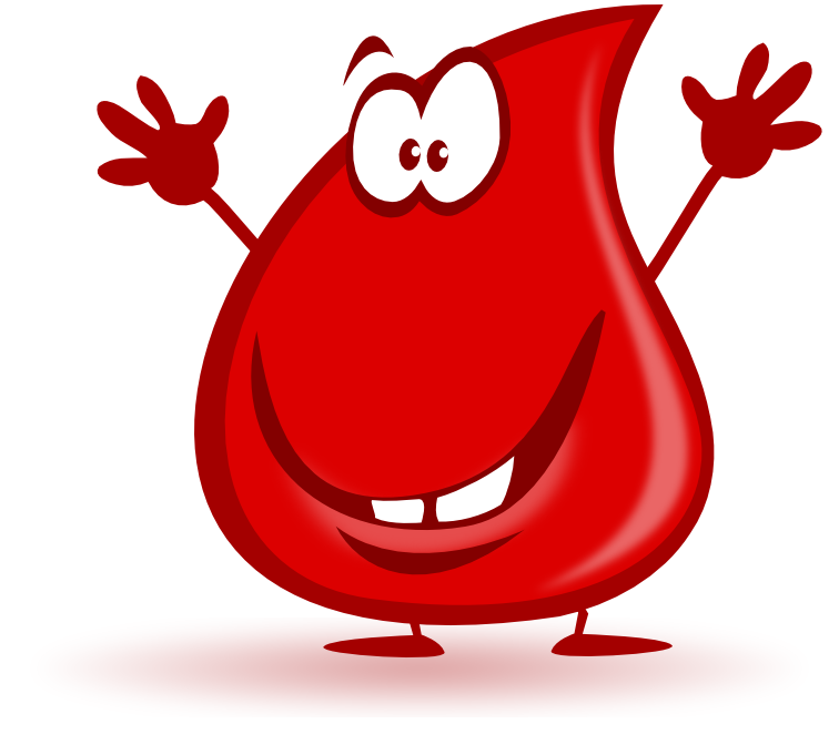 Pencil and in color. Blood clipart cartoon