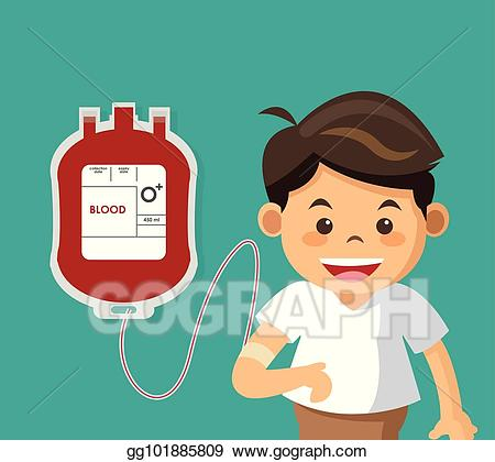 Blood clipart cute. Vector stock boy with