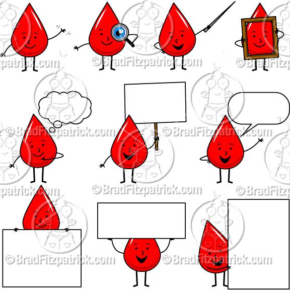 blood clipart cute