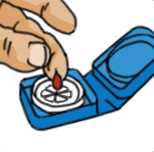 Hemaspot hf collection device. Blood clipart finger clipart