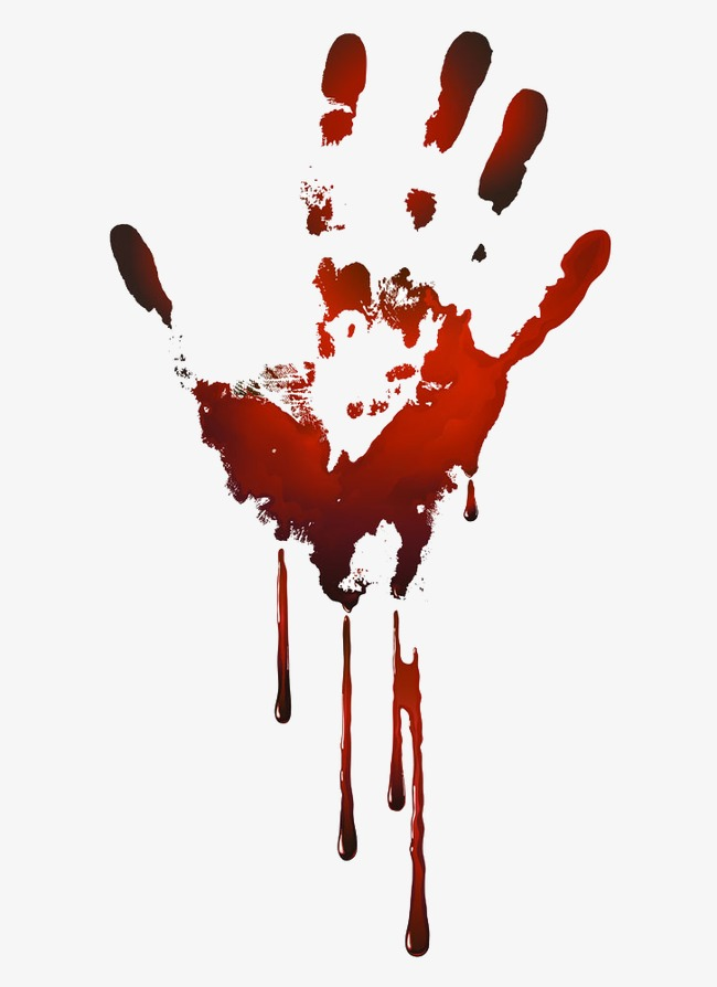 Palm bloodstain png image. Blood clipart handprint
