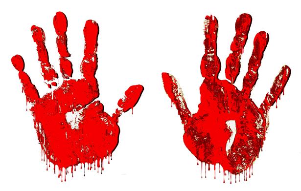 Halloween clipart hand. Free bloody handprint png