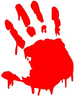Amazon com set of. Blood clipart handprint