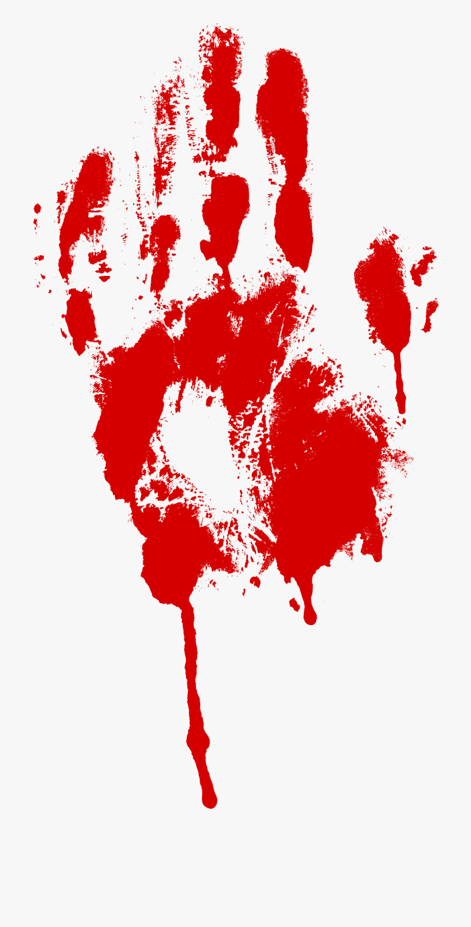 Blood clipart handprint. Freeuse library svg bloody