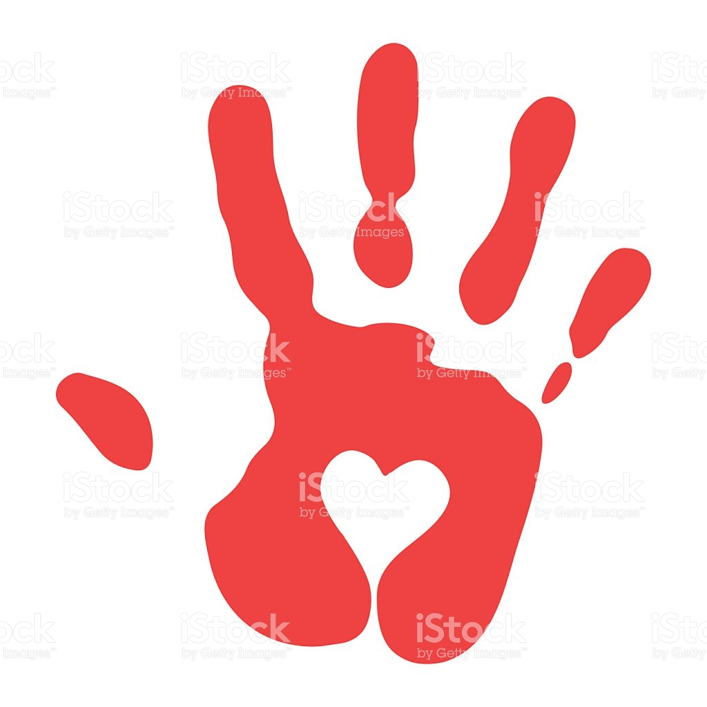 Smeared stock illustration shutterstock. Blood clipart handprint