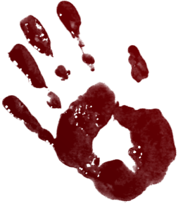 Blood clipart handprint. Tubes bloody graphic tube