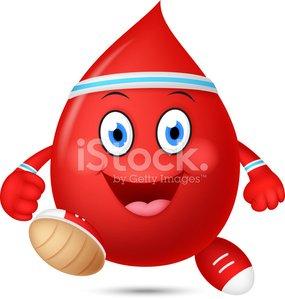 Blood clipart happy. Cartoon running premium clipartlogo