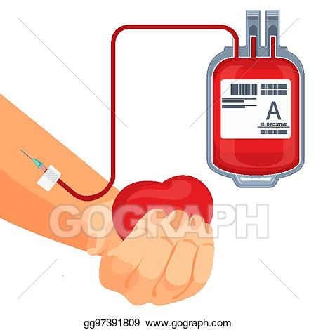Bag clipart blood. Vector stock process of