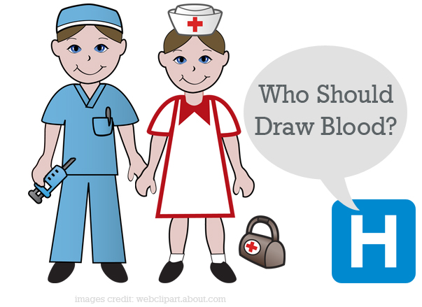 Phlebotomists vs nurses who. Careers clipart drawing