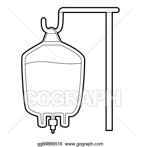 Stock illustration for transfusion. Blood clipart package