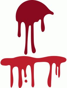 Splatter design silhouettes and. Blood clipart silhouette