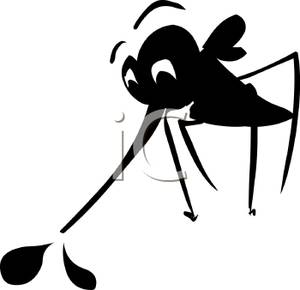Cartoon mosquito sucking royalty. Blood clipart silhouette
