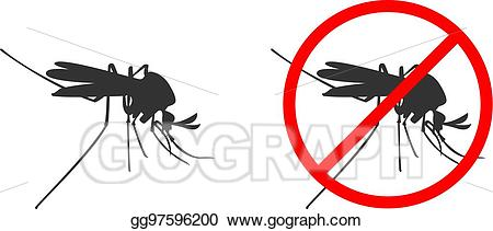 Blood clipart silhouette. Eps illustration black mosquito