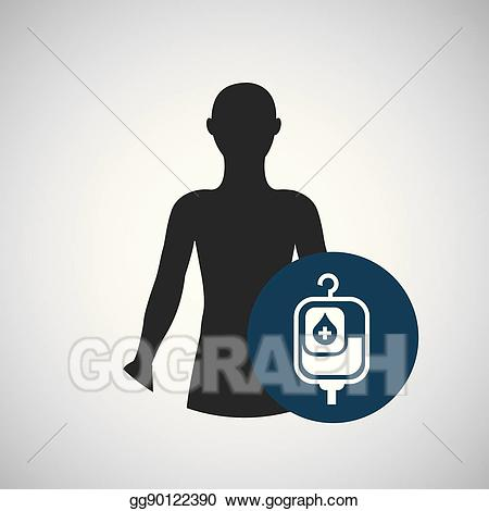 Blood clipart silhouette. Vector art person medical