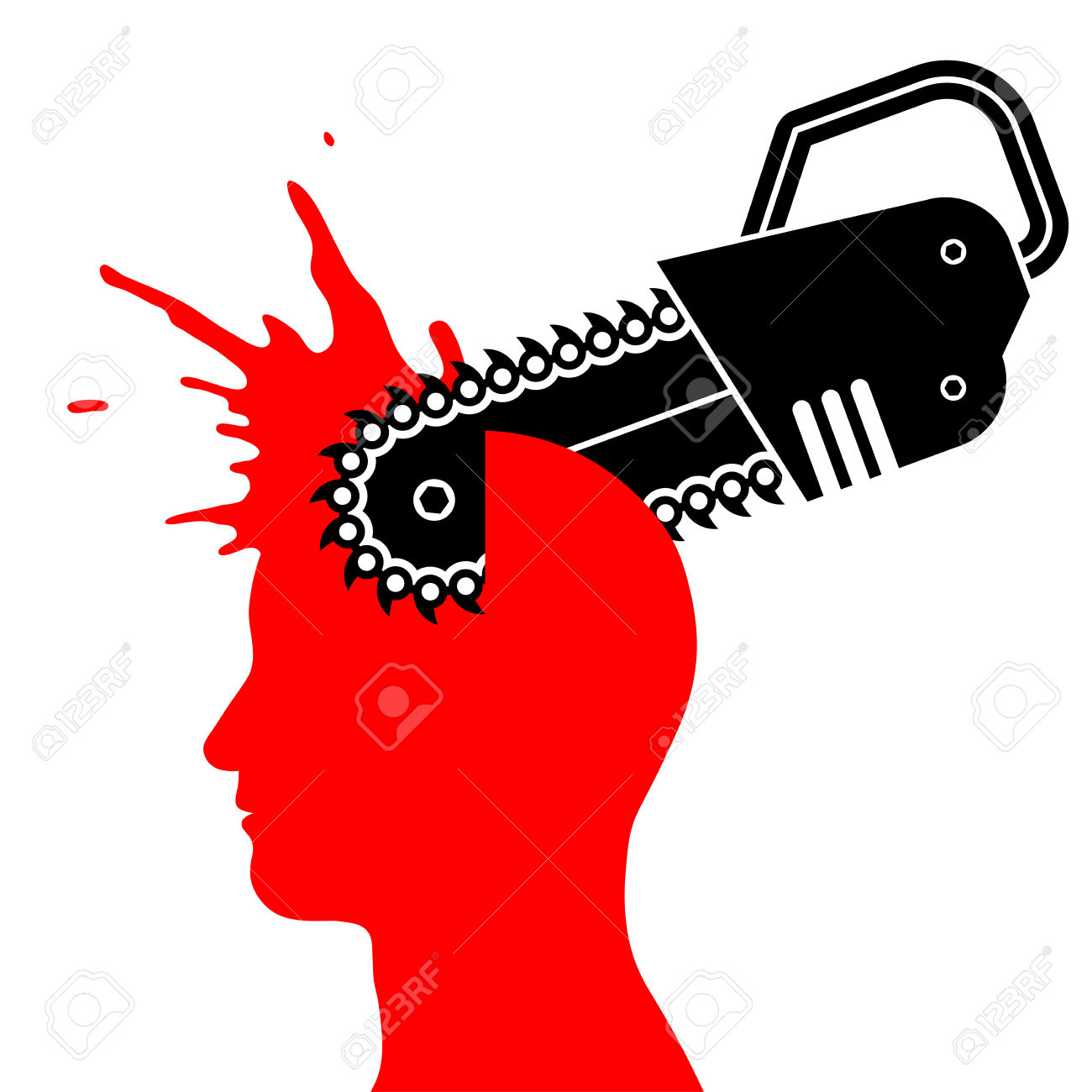 Bloody chainsaw . Blood clipart silhouette