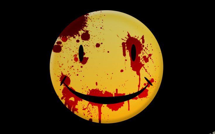 Dark horror mood wallpaper. Blood clipart smiley face