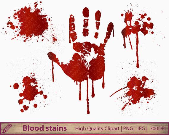 Blood clipart splotch. Halloween clip art horror
