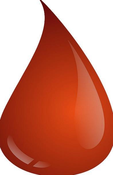 A drop of gore. Blood clipart splotch