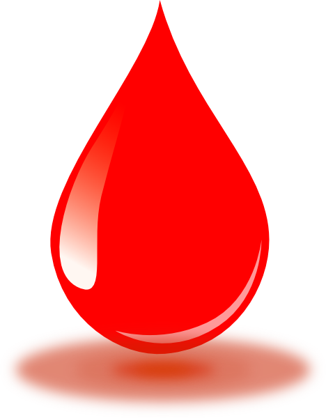 Real red clip art. Drop of blood png